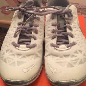 Nike white running sneaker